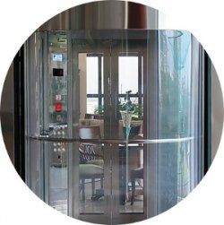 Safety glass Elevators cabins